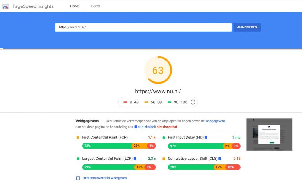 hoger-in-google-komen-met-google-pagespeed-insights